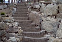 Stairs and steps,rock or block / stairs and steps in kelowna landscaping