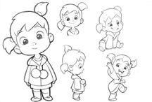 Эскизы персонажей