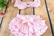 Bloomers & Headbands Romper Sets