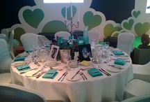 """Event Linen and Seat Covers - by Chordiem / We have a wide range of seat covers with sashes and bands as well as 118"""" circular table cloths available for hire."""