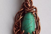 Moje wrapy. Wire wrapping - taken by me
