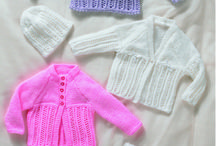 Baby Sets /  A range of sets of babies clothes in a different range of yarns and colours.