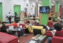 Cool Teen Spaces / fun ideas for a teen space / by Helen Plum Library