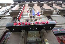 Hotel Demò Milan / The Hotel Demò is located along a quiet side street, only 100 meters away from the Stazione Centrale of Milan, from the bus stopsfor Malpensa, Linate and Orio al Serio and from the subway station (yellow MM3 and green MM2) for the Rho Milan Expo Area, that in only 5 minutes takes you to Piazza del Duomo.