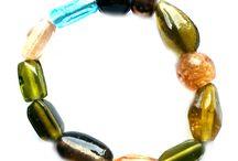 Modeschmuck-Armbänder / Modische Schmuckstücke aus Glasperlen, Holzperlen, Wachsperlen, Metallperlen, Rocailles, Stiftperlen und mehr...