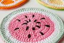 frutas al crochet