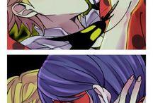 Ladrien / Romance entre Ladybug y Adrien Agreste de la serie ''Miraculous Ladybug''.