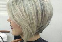Frisur und farbe