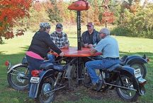 Biker restaurant stop