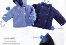 Paletot tricot bébé