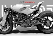 Paolo Tex motorbikes / paolo tex tesio motorbike design bodykit ducati monster s4r naked caferacer race supertwin s2 braida tex design bike expo