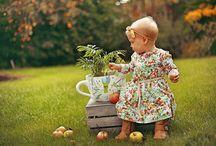 Kids autumn photographs