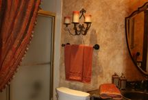 thanksgiving decorations table color schemes / Powder room