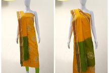 Bandhani Dress Material / Beautiful bright colored Bandhani Dress material. Authentic Handicraft Bandhani dresses. Prepared by the traditional tie and dye process. More than 100 different designs and patterns available.