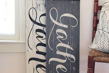 Rustic sign party