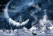 Christmas fantasy art
