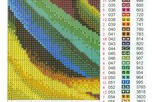 flower beads/ cross stitch