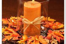Fall Wedding / Table & church decorations