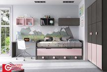 Dormitorios Juveniles / Composiciones de estilo moderno para habitaciones para los peques de la casa y los que ya no son tan peques.