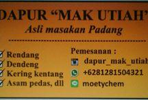 Dapur Mak Utiah / The original recipes of Padang's food by my lovely mom.