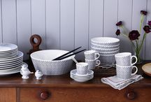Royal Doulton and Charlene Mullen Collaboration / The ceramic collaboration between Royal Doulton and Charlene Mullen.  Ceramic plates, mugs and bowls decorated with blackwork and scenic patterns.