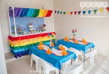 Rainbow Party Package / Somewhere over the Rainbow dreams come true. Want to celebrate in style and throw a memorable kids birthday party for a special one.  Let Party by Design's Auckland team help with our themed children's party packages and dessert tables.  Visit www.partybydesign.co.nz
