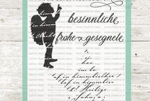 Klassiche Weihnachten / Weihnachten, dass schönste Fest. #Deutsche Textstempel mit einem schönen Engel geben Euch die Möglichkeit, tollen Karten zu gestalten. Schaut doch mal rein und viel Freude beim stöbern