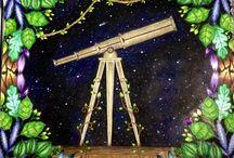 Lock, Telescope,Compass.
