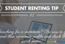Student Housing Renting Tips / Great tips for students who are seeking off-campus student housing while they go to college or university.   #studenthousing  / by Places4Students.com