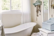 Beach House Bathrooms / We're looking for the unique, the unexpected twist on this oh-so-personal place in your home that offers opportunities for lots of personality! From, tubs to tile to showers...sinks, cabinetry and how about the view? / by Cottage & Bungalow