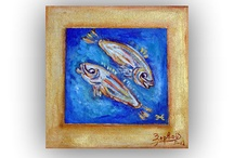 Oil,Pisces,Fish, Zodiac Signs,