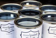 Painting laminate, mud paint