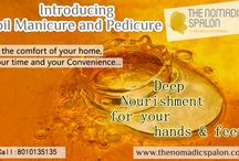 Oil Maicure And Pedicure