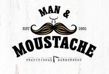 Man & Moustache Traditional Barbershop Branding.