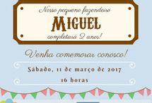Fazendinha / Um pouquinho de ideias e criatividades de tudo o que rolou e o que confeccionei para fazer a festa de aniversário do Miguel de 2 anos na fazendinha.