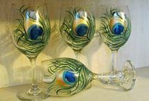 painted wineglass glasses