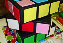 Rubiks Cube Cake, cookies and cupcakes