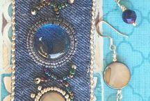 Beaded embroidery bracelets