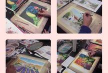 Színes jobb agyféltekés rajztanfolyamon készült képek / A színes jobb agyféltekés rajztanfolyamon készült képek mappája. 4 nap alatt fantasztikus színes képek születnek!