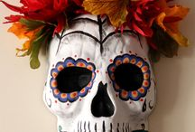 Day of the Dead - Dia de los Muertos hand painted Sugar Skull / Beautifully detailed and made with love, this one of a kind sugar skull will be sure to add a unique flair to your holiday decor. It can be hung as a mask orrrrr attach the bonus ring to use your skull as a door knocker or towel holder.   There are 6 sugar skulls in this year's collection. Peep them all: https://www.etsy.com/shop/LifeStyleRemix  / by LIFESTYLE REMIX with Rebecca Gitana