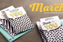 Paper Pumpkin March 2015 - Sew You / March 2015 Paper Pumpkin Kit / by Paper Pumpkin by Stampin' Up!