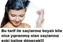 yıpranmış saçlara doğal bakım