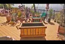 VIDEOS- Rolling Planter, Mobile Raised Bed Garden Planters on Wheels, Handmade USA