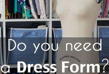 Dress pattern or dummy