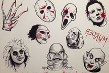 Horror drawings