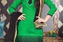 Chanderi Salwar Kameez / Latest Styles of Chanderi Salwar Suit with Embroidery & patchwork