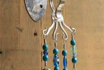 Wind chimes from Silver ware