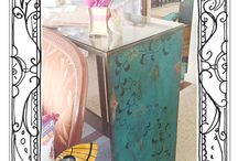 Dragon Design Studio / Unique reloved furniture created by Rose Alexander of GAYSHA Contemporary Paint and Pattern using Chalk Paint by Annie Sloan