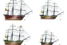 MODELISMO NAVAL / Planos y detalles de Barcos en madera. Fundamentalmente novios de línea y barcos de ribera.