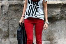 jeans rojos